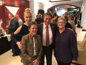 "Snug Harbor CEO, Pride Center Executive Director Carol Bullock, Assemblyman Matt Titone, attorney Ganine Gambale. Scenes from the 2018 ""One Island, One Pride"" gala Friday, Sept. 21 at the Hilton Garden Inn, Bloomfield."