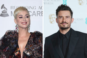 Katy Perry, left, and Orlando Bloom are engaged after 2 years of dating.