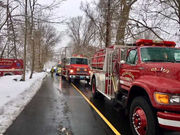 Wilbraham, Hampden firefighters battle house fire in cold, wet conditions