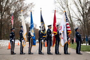 Veterans honored during the Veterans Day ceremony held at Fort Custer National Cemetery in Augusta, Nov. 11, 2018.
