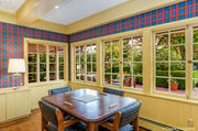 Keep the crazy color or mute it? 1930 Green Hills mansion has purple plaid (photos)