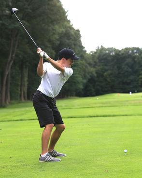 Kevin Allard paces Longmeadow golf over league-rival Agawam for first win of season, 155-167. (DOUG STEINBOCK/ MASSLIVE)