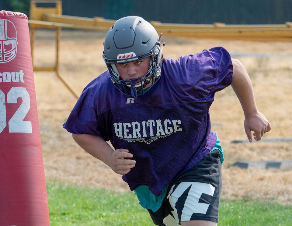 33aa990a09a Heritage Timberwolves prepare for 2018 high school football season  Photos