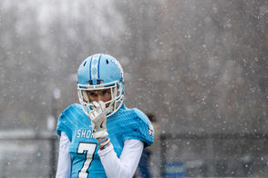 "GRAND LEDGE, MI - Other than the fumbles and a punt snafu, Muskegon Mona Shores looked like a state champion. But the fumbles didn't make Mona Shores coach Matt Koziak feel like a state champion ... at least not yet. Mona Shores pulled away with 28 straight points in the second half to earn a 49-28 win Saturday over Midland High in a Division 2 semifinal game at Grand Ledge High School. ""It was frustrating, but I think the players handled it better than the coach did,"" Mona Shores coach Matt Koziak said. ""They kept their heads up. They went back to work. They handled the adversity."" Mona Shores-Midland High photo gallery Mona Shores receiver James Gilbert talks about undershirt challenge"