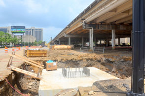 Contractors are already working to replace the I-59/20 bridges downtown and the park is planned to open before Birmingham hosts the World Games in 2021.