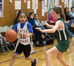 St. Rita's defeats Notre Dame Academy 31-11 during a game on December 8th at St. Rita's.(Staten Island Advance/Amanda Steen)