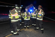 Car wrecks utility pole, driver taken to hospital (PHOTOS)
