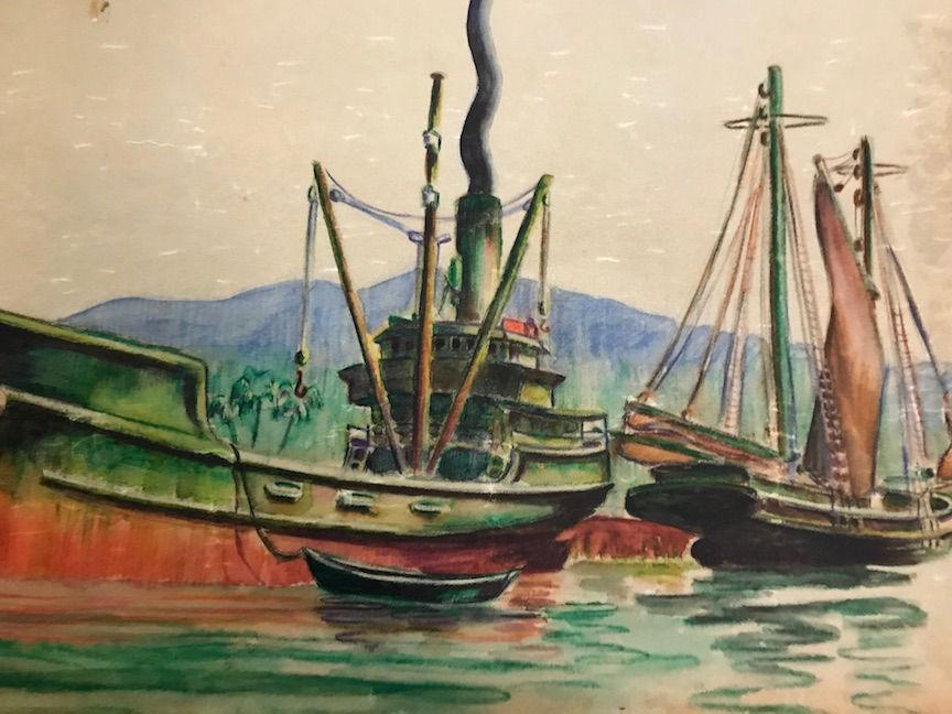 Retired art teacher's World War II memories paint a vivid picture