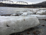 Pack ice upstream may flood Lehigh Valley waterways