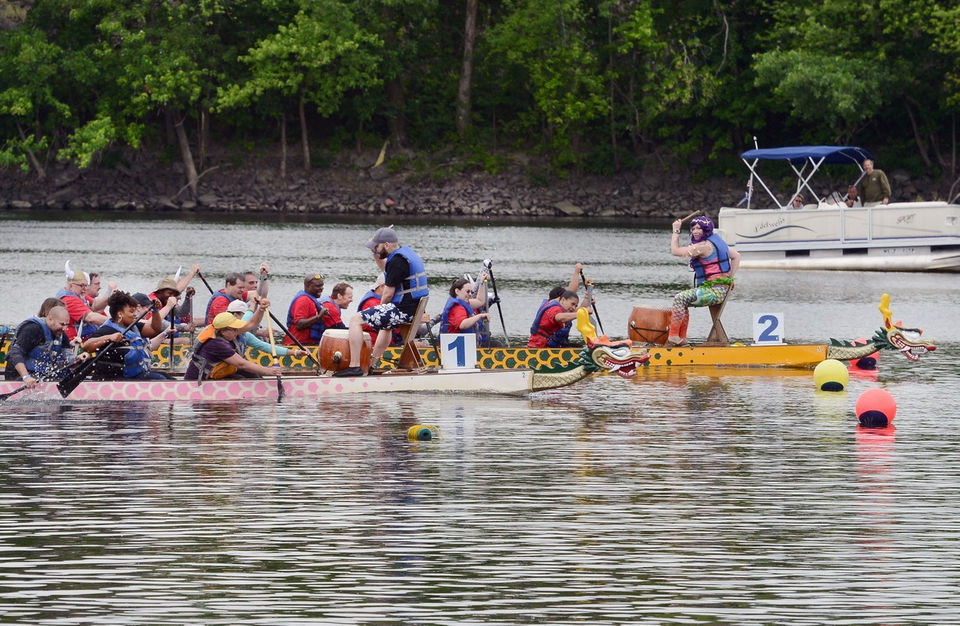 The Pioneer Valley Riverfront Clubs' 2018 Dragon Boat Festival was held Saturday on the Connecticut River in Springfield