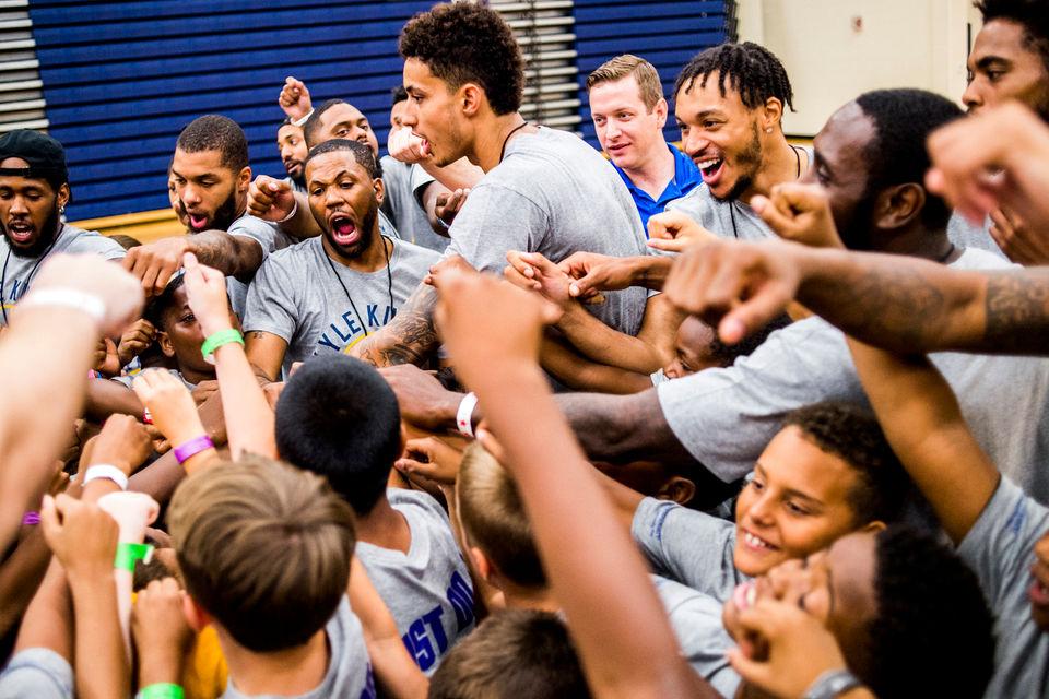Kyle Kuzma of Los Angeles Lakers brings basketball camp to hometown Flint
