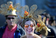 Hats and horses at the Fair Grounds on Thanksgiving Day: photo gallery