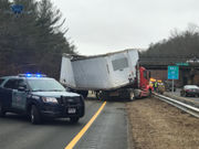 Crash on Mass Pike in Palmer still causing delays hours after collision