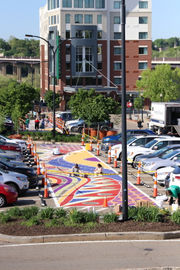 Zen-inspired street mural gives Akron's Northside Arts District colorful 'spacelift' (photos)