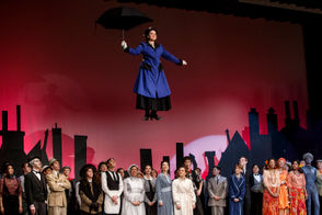 Mary Poppins is played by Moira Brennan. Bishop McDevitt High School students perform a dress rehearsal of the musical Mary Poppins, April 14, 2015. Dan Gleiter | dgleiter@pennlive.com PENNLIVE.COM
