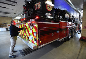 Photos of the Jackson Fire Department's new fire truck.
