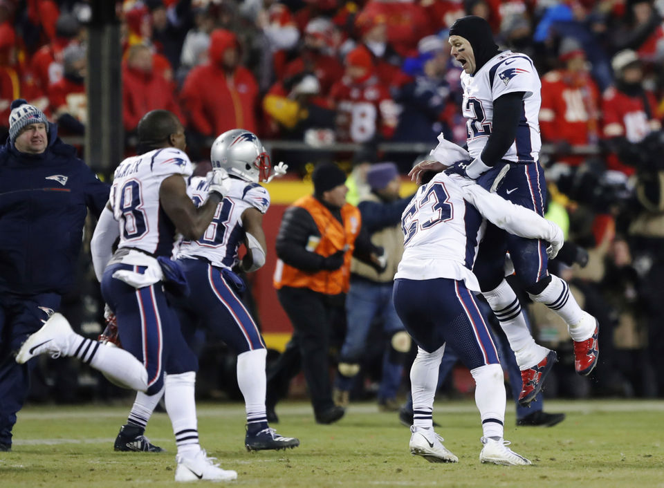 24804c458c22 New England Patriots win rocks internet  How Twitter reacted to spectacular  AFC Championship game