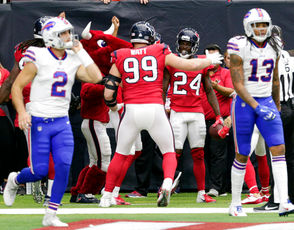 The Buffalo Bills take on the Houston Texans in Week 6 of the NFL season on Oct. 14, 2018.