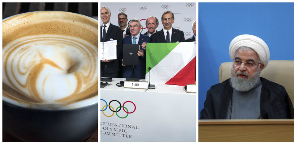 Can coffee fight fat, Italy to host Winter Olympics, Iran says U.S. lies & more: What's trending today