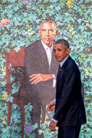 Obama official portraits unveiled at Smithsonian
