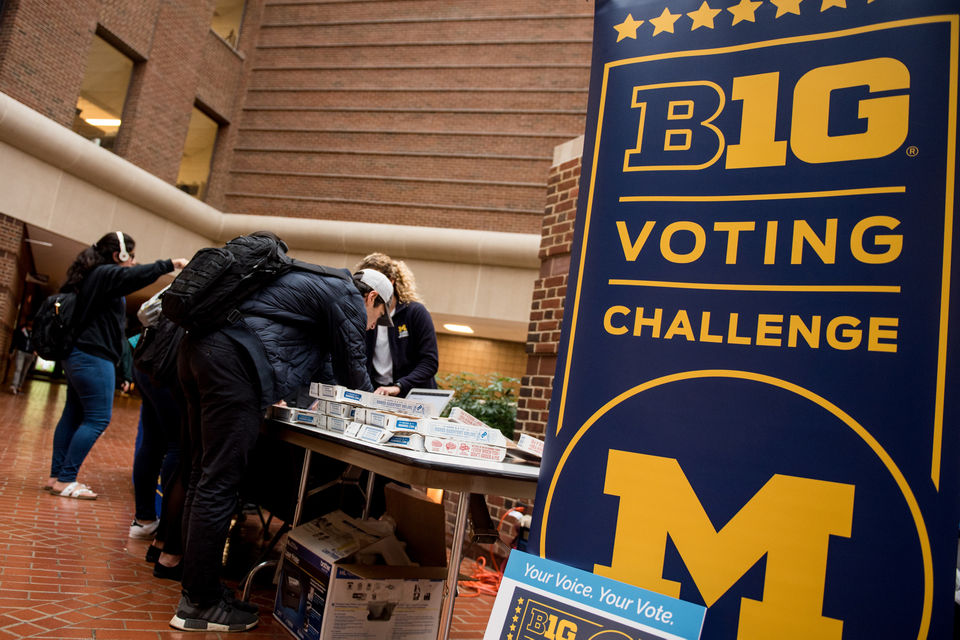 University of Michigan ramps up efforts getting students registered to vote
