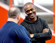 Marvin Harrison makes long-awaited return to Syracuse for spring game (video)
