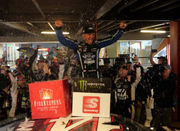'We're going to drink a little bit tonight:' Timely rain leads to Clint Bowyer win