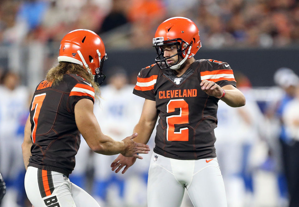 Will the Browns be okay with two rookies in kicker Austin Seibert and punter Jamie Gillan? Hey, Mary Kay!