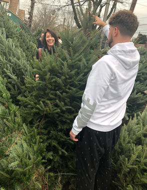 "Here at New Dorp's Touch of Green Nursery, we found Kathy and her son Andrew Babicke of Oakwood Heights, buying their Christmas tree. Their decision making was, ""Whatever looks nice"". They ended up spending $65.00 for a seven foot tree. (Staten Island Advance/ Jan Somma-Hammel)"