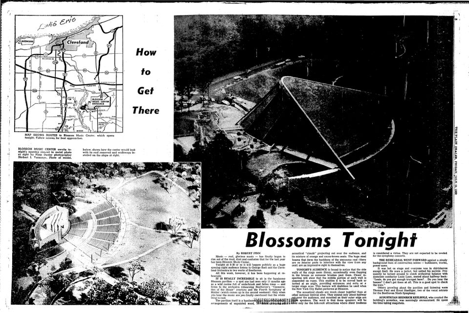 Blossom Music Center memories: 50 classic concert ads from the 1960s & 1970s