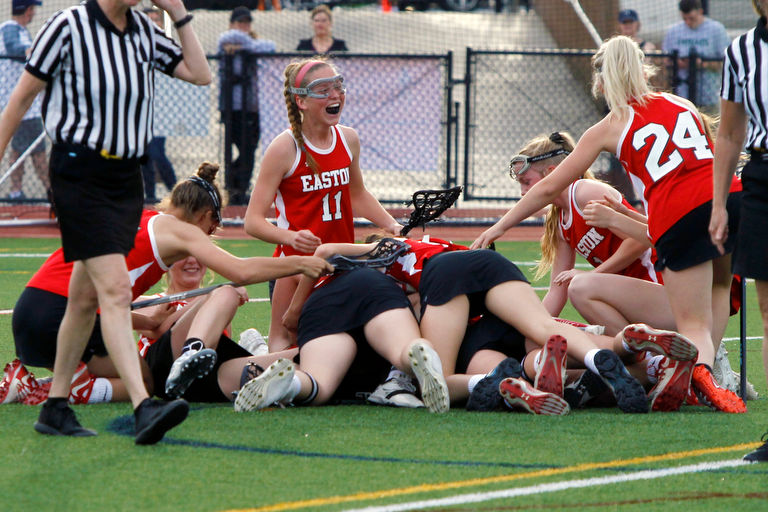 Easton girls lacrosse stuns Parkland in OT to win 1st EPC title