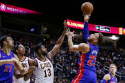 Hot-shooting Pistons close out preseason by beating Cavs