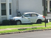 Homes evacuated after car hits gas meter in College Hill collision in Easton