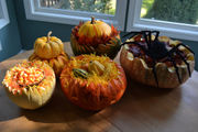 How to carve pumpkins into beautiful centerpieces: Halloween with The Pecks