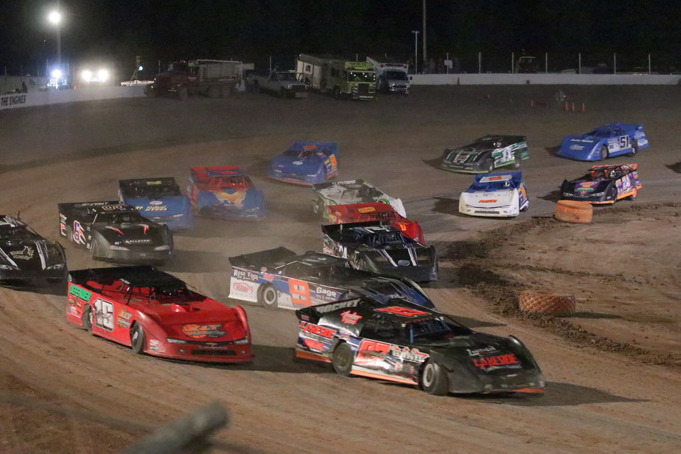Action is under way at Tri-City Motor Speedway in Auburn. (Courtesy Tri-City Motor Speedway)