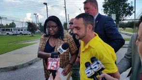 (Dearman is led into Metro Jail on Monday, Aug. 22, 2016. (Lawrence Specker/LSpecker@AL.com)