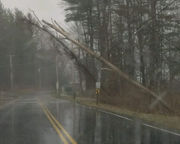 Lenox police close several roads due fallen trees and power lines