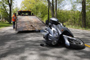 Motorcyclist hospitalized after crash near Rover Pipeline construction