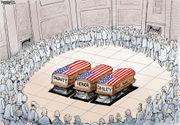 Editorial cartoons for Dec. 9, 2018: Bush funeral, Mueller memos, 'Tariff Man'