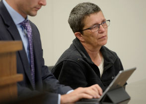 Photos from the arraignment of Nikki Joly on an arson charge.