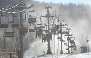 Downhill, cross-country, terrain parks, snowshoeing Conveniently located for skiers in the Finger Lakes, Central NY or the Southern Tier, Greek Peak is a premier skiing destination for the region. Thirty-three trails, six aerial lifts, two surface lifts, beginner slope and terrain parks, plus an extensive nordic ski area for cross-country skiers and snowshoers make for a perfect destination for any winter-sports enthusiast. Book a room at Hope Lake Lodge for a weekend in this winter wonderland. 2000 State Route 392, Cortland NY 13045 Website