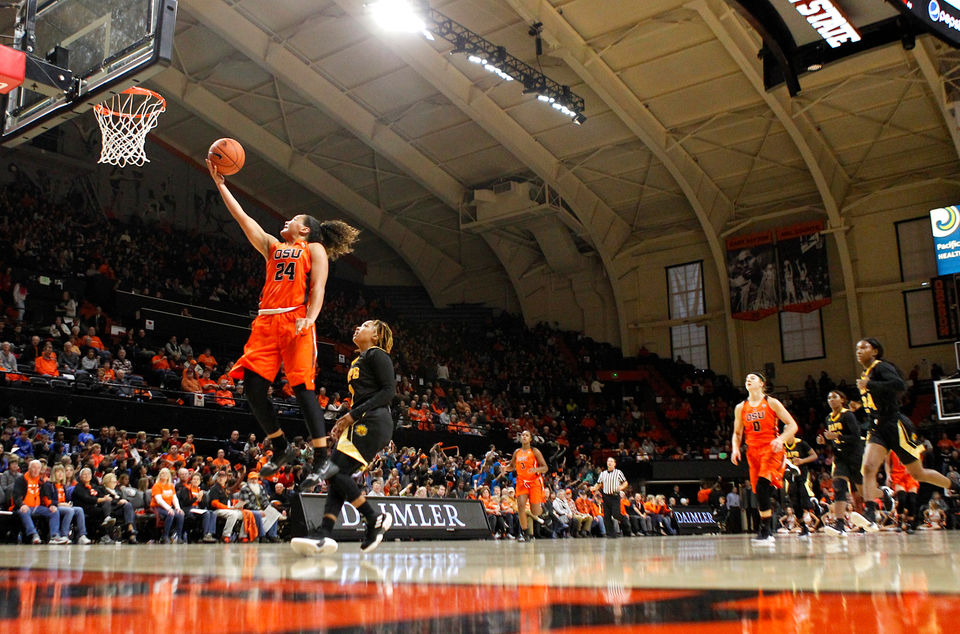Oregon State Beavers women roll past Arkansas-Pine Bluff, 89-33