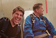 Tom Cruise takes terrified James Corden skydiving for first time (video)