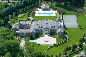 """The home: Once listed for $56 million, the 30,000-square-foot home, which has 12 bedrooms and 19 bathrooms, was most recently on the market for $39.9 million. The home has 42 rooms of """"stunning interiors,"""" as well as grand reception rooms, and a """"gracious dining and ballroom."""" Also, inside the elegant home is a spa/workout area, a basketball court and a 4,000-bottle wine cellar. Outside, the property features a 65-foot saltwater pool and pool house, 11-car garage and a tennis court. Property assessment: $35.5 million Property taxes:$336,420"""