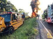School bus and 18-wheeler crash in Livingston Parish: State Police