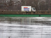 Emergency shelter set up for evacuees of Kalamazoo flooding
