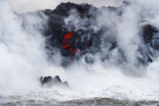 Lava from Hawaii volcano enters ocean, creates toxic cloud
