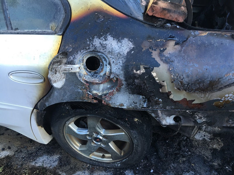 A 2004 Pontiac Bonneville was torched in Hampton Township on July 18, marking Bay County's 10th such arson since April.