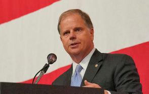 U.S. Senator Doug Jones speaks at Washington Update Luncheon.