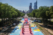 From parking lot to park: Eakins Oval in Philadelphia gets a summer makeover